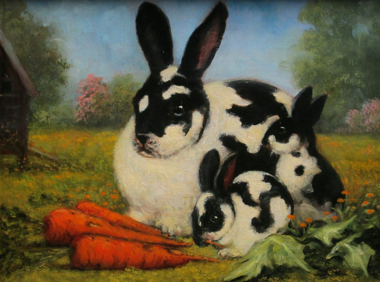 black and white rabbit family « Arlen Perkins Withey